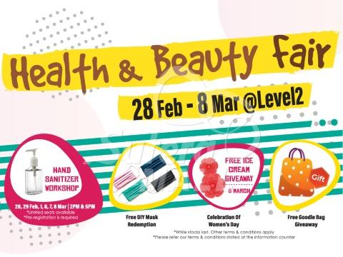 <div class='event-date'>28 Feb 2020 to 08 Mar 2020</div><div class='event-title'><h4>Health & Beauty Fair</h4></div>
