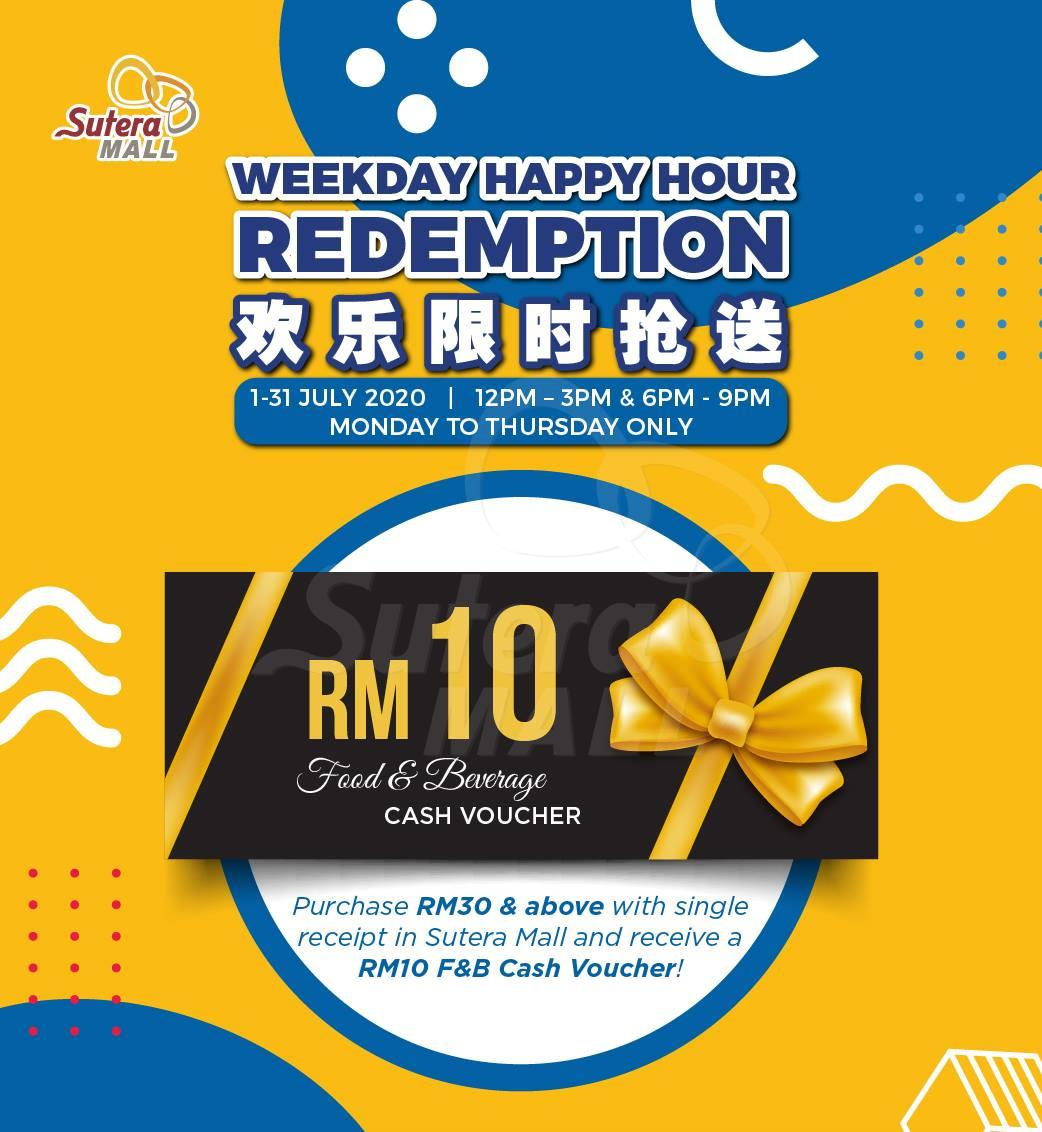 <div class='event-date'>01 Jul 2020 to 31 Jul 2020</div><div class='event-title'><h4>Weekday Happy Hour Redemption</h4></div>