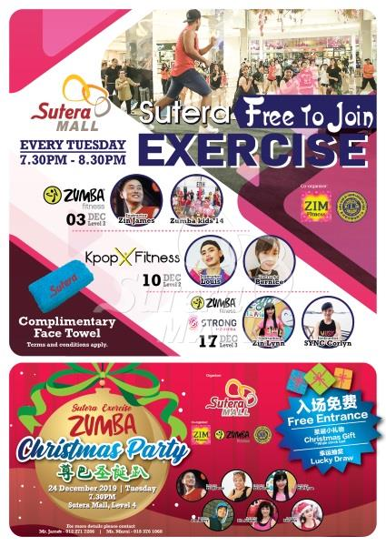 Sutera Exercise & Zumba Christmas Party Dec 2019